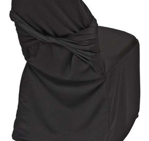 Black Tie Back Chair Cover