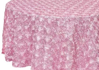 Pink Satin Rosette