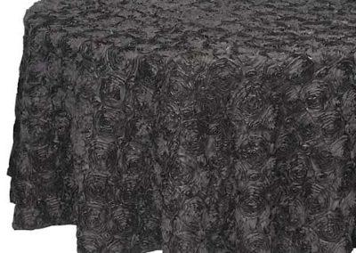 Black Satin Rosette