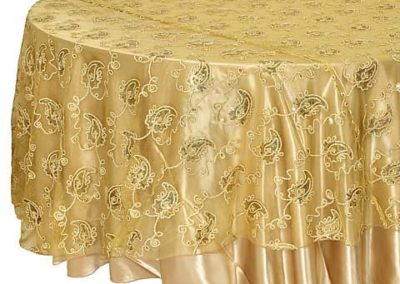 Gold Paisley Overlay
