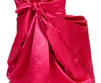 Fuschia Satin Chair Cover