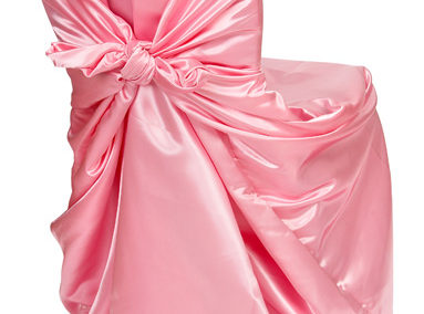 Baby Pink Satin Chair Cover