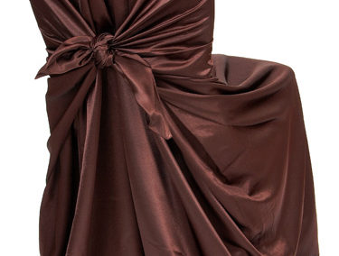 Brown Satin Chair Cover