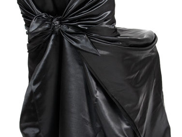 Black Satin Chair Cover