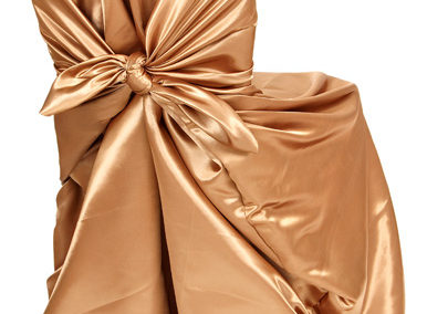 Cappuccino Satin Chair Cover