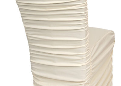 Ivory Rouged Chair Cover