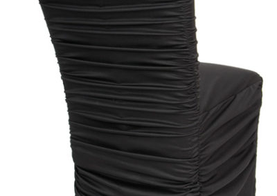 Black Rouged Chair Cover