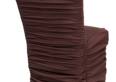 Brown Rouged Chair Cover