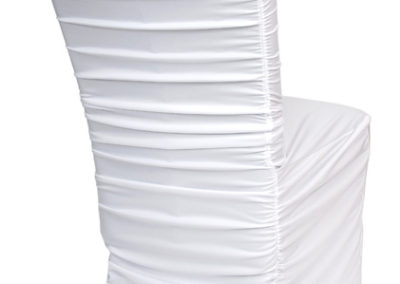 White Rouged Chair Cover