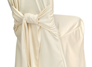 Ivory Tie Back Chair Cover