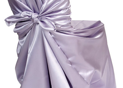 Lilac Satin Chair Cover