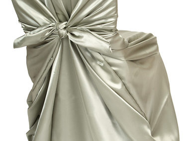 Sage Satin Chair Cover
