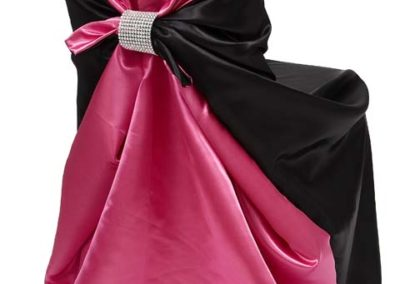 Hot Pink/Black Chair Satin Cover