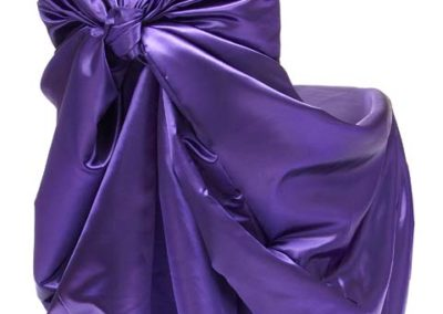 Purple Satin Chair Cover