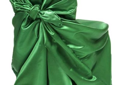 Emerald Green Satin Chair Cover
