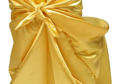 Yellow Satin Chair Cover