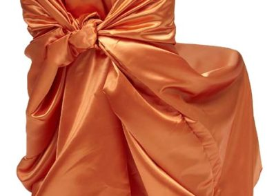 Orange Satin Chair Cover