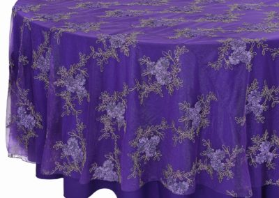 Purple Floral Lace Overlay