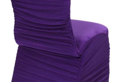 Purple Rouged Chair Cover