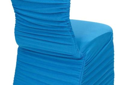Turquoise Rouged Chair Cover