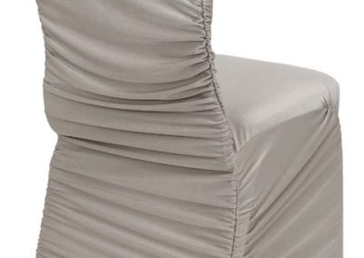 Silver Rouged Chair Cover