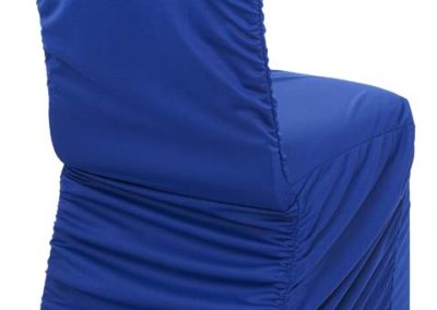 Royal Blue Rouged Chair Cover