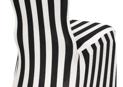 Stripe Spandex Chair Cover