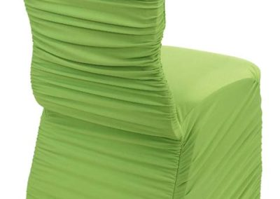 Lime Green Rouged Chair Cover