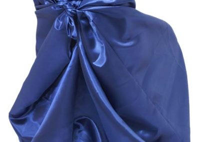 Royal Blue Satin Chair Cover