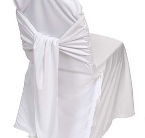White Tie Back Chair Cover
