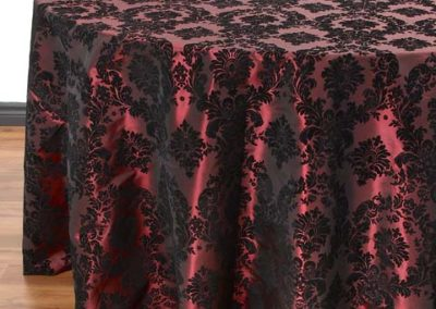 Burgundy Baroque Flocking