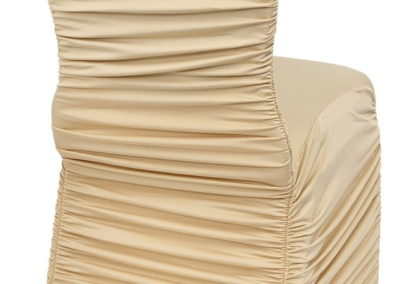 Champagne Rouged Chair Cover