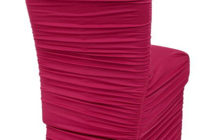 Fuchsia Rouged Chair Cover