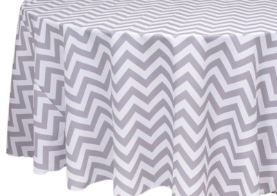 Grey Chevron Poly