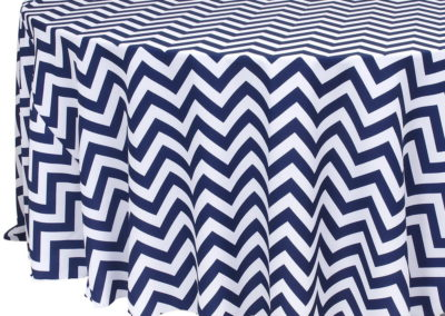 Navy Chevron Poly
