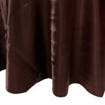 Dark Brown Satin Napkin
