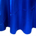 Royal Blue Satin Napkin